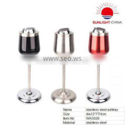 new colored standing stainless steel wine glass shape ashtray