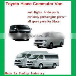 toyota hiace parts chrome body kits headlights bumper brake pads hiace commuter parts quantum parts kdh200 parts