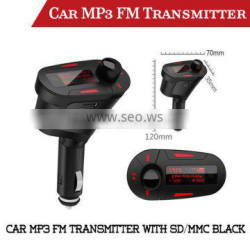 Car MP3 Player FM Transmitter with SD/MMC/USB black