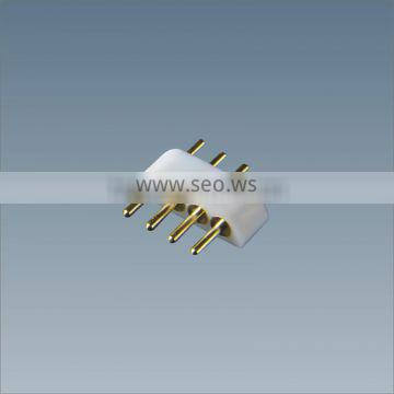 connector for connecting led strip SMD5050 DC12V 4 Pin Male Connector for RGB 5050 SMD LED Strip,