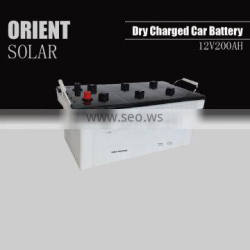 12V 200AH dry charged car battery