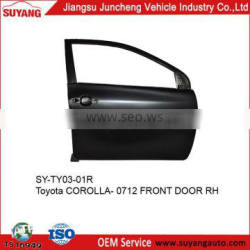 Steel Front Door Toyota Corolla 07-12 car auto body parts market