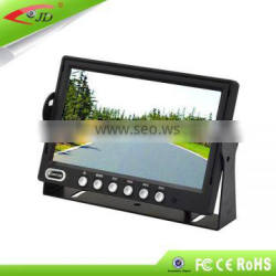 800 x 400RGB 7inch LCD car rearview monitor with 4 ways RCA video input