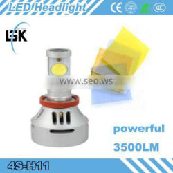 NEWEST 4S LED headlight! powerful 3500LM 35W h11 power led headlight kit made in CHINA
