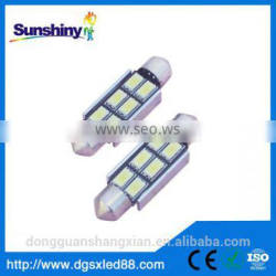Car accessories 36mm 8 SMD 5050 Canbus Festoon LED,car reading light,car roof light