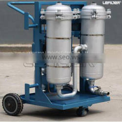 Portable oil filter machine for industrial oil filtration