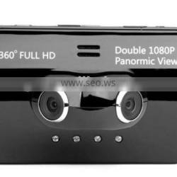 """2015 double camera lens wide angle 3.5"""" screen motion detection digital video camcorder car dvr"""