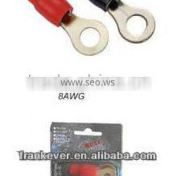 Hot ! Brass 8AWG cable ring insulated shaped insulated terminal( terminal connector) China