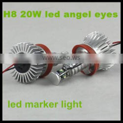 20w h8 error free canbus led marker angel eyes halo light for bmw e90 e91 e70 e71 e60 e61 f01 f02 e82 e87 aluminum 6000k