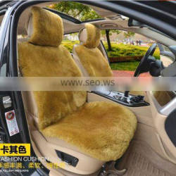 favours winter warm luxury 100% genuine pure short wool whole piece sheepskin car seat cover set cushion styling fur