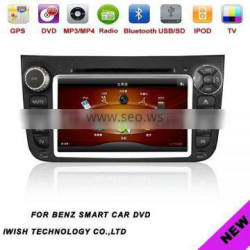 smart tv for benz smart with DVD radio usb sd mp3/4 bluetooth gps dvb-t canbus
