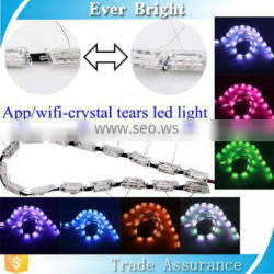 Newest product for 2017 auto drl lighting 2pcs white/amber crystal lighting phone APP control/led wifi light bulb