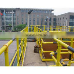 Good safety non - magnetic yellow grp industrial handrail walkway