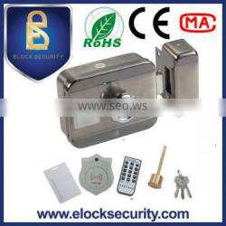 Intelligent electric motor lock with RFID card reader and knob