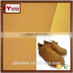 Cow nubuck split leather for hiking shoes