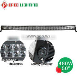 High end quality OSRAM hyper spot 480w 50 curved led light bar