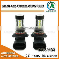 80W Black-top Osram led fog light bulb 9005 9006 HB3 HB4