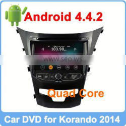 Ownice New Quad Core Android 4.4.2 car dvd player for ssangyong new actyon Cortex A9 1.8GHz CPU HD 1024*600