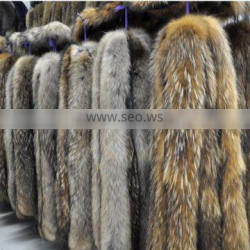 2016 high -end real raccoon fur trimming material for garment