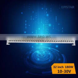 super bright and high quality ip68,best 4x4 accessories led light bar 180w