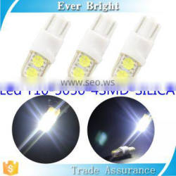 Silica led lamp 12v 5050 4SMD auto led light 1.6W 8000K t10 car led lamps lights