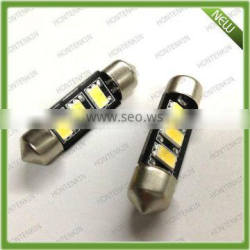 2015 New 36mm White 5730 3 SMD LED Festoon Dome LED Light Bulb Lamp DC 12V