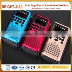 Supply colorful anodized portable power bank shell aluminum anodized shell
