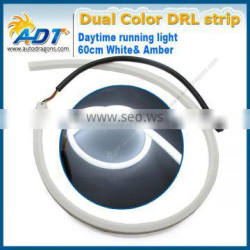 Dual color flexbile 60cm LED daytime running light, auto headlight strip