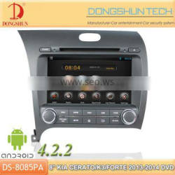 """8"""" K3 2013-2014 pure android 4.2.2 car DVD GPS with WIFI/3G"""