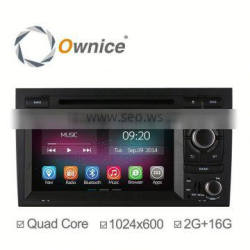 2G +16G Wholesale Price Android 4.4 & Android 5.1 DVD GPS Navigation system for Audi A4 Quad Core RK3188 1.6GHz
