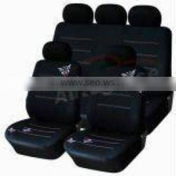 2015 hot selling polyster car seat cover black and white / design your own car seat cover exported to america, Germany, Russia