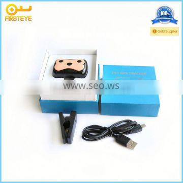 2014 Newest Waterproof Mini GPS Tracker for small PET dog cat GPS tracking device Locator Free Pet Collar Free Online Tracking