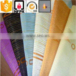 Alibaba suppliers 100% Polyester Luxury Brilliant Flame Retardant Fabric for Curtain Cloth