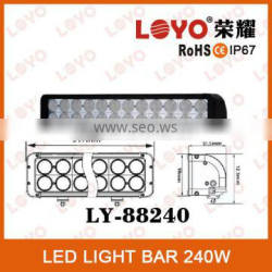 Hot sale !! LOYO Double Row 240W LED Light Bar ,offroad LED driving bars