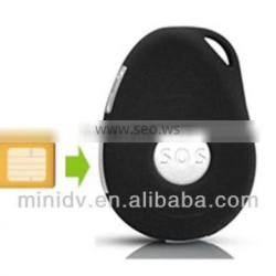 60000 locations Two-way Talking falling down dection keychain Mini GPS Tracker with SOS Function, Support E-mail Alarm
