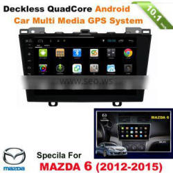 "10.1"" multi-touch screen quad core android car entertainment multimedia system for MAZDA 6 3 AXELA with gps wifi bt usb sd"