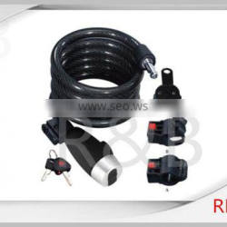 RL-2441 steel cable lock with dust cover