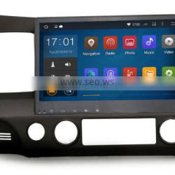 Cheap 10.2 Inch Bluetooth version 2.0 Black colored car gps android dvd player for Honda Civic 2009 2011
