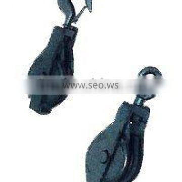 single wheel open hook pulley