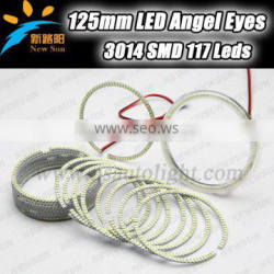 100% manufacturer wholesale smd led car angel eyes with one year quality warranty 125mm car head lamp angel eye ring