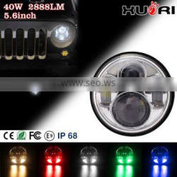 "Color Changing Angel Eye headlights for jeep wrangler, jeep 5.7"" led headlight, jeep led light car led light daylight Supplier's Choice"