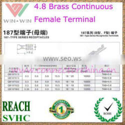 China Cheapest Price 4.8 Brass Continuous female Terminal