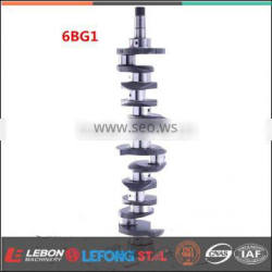 Factory Directly Sell 6BG1 Steel Casting Crankshaft Assy