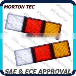 HD LED tail lamp for truck security /SAE & ECE Approval/285*96*34.5mm