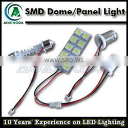 T10 W5W BA9S festoon 10-SMD LED Panel Lights for Interior Map Dome Light