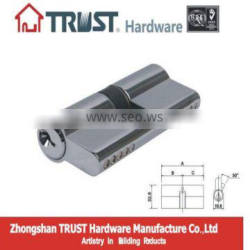 A70CP:trust 70mm euro profile lock cylinder with brass key