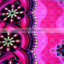 100% polyester printed embossed high velour JL-06
