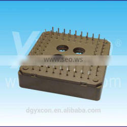 Dongguan Yxcon 2.54mm pitch straight brown color PLCC connector