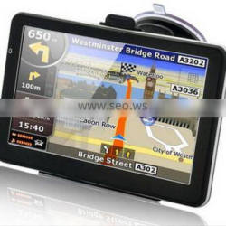 7 inch car gps navigator with 30 languages menu free map and CE/ROHS certificates