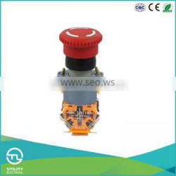 UTL New Hot Products Press To Lock Twist Mushroom Waterproof Push Button Switch